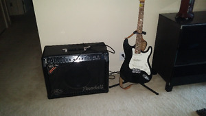 GUITAR AND STAND AND AMP RandallKirk Hammett KH75 75W