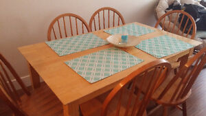 Wooden Kitchen Table + 6 Chairs Downtown-West End Greater Vancouver Area image 2