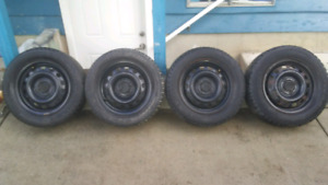 Winter tires on steel rims (Price Lowered)