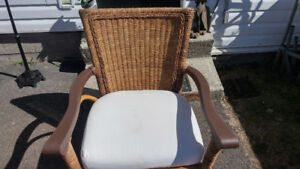 Rattan and wicker chair