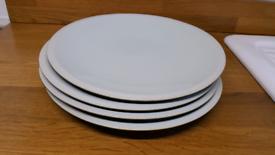 4 John Lewis Dinner Plates