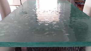 plateau de table de verre thermoformé