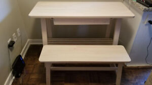 Birch Sideboard with Matching Bench - Like new
