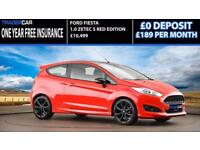 2016 FORD FIESTA 1.0 ZETEC S RED EDITION 139 BHP - FREE INSURANCE!!!
