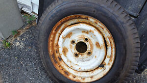 5.3 x 12 trailer tire and rim 4 bolt