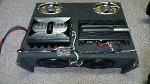 """Speaker Box with 2 x amps, 2x 6x9 speakers and 2x 10""""subs Cornwall Ontario image 5"""