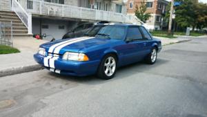 1990 Mustang lx 5.0 viper blue. winter  sale..