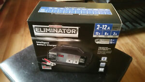 Eliminator Intelligent Battery Charger, 12/8/2A [used 1 time]