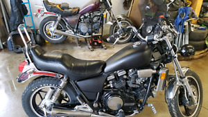 1983 Honda Magna V45 and 82 parts bike.