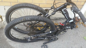 Downhill racing collapsable mountain bike to trade for a phone