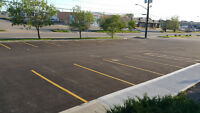 Parking lot line painting and sweeping