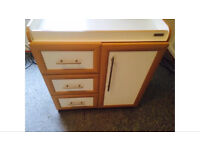 Mamas and papas white Savannah changing table drawers cupboard baby furniture nursery unit