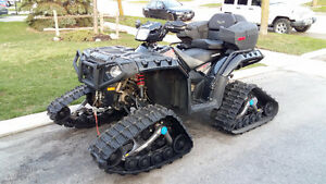 2015 Polaris Sportsman 1000 XP with Camoplast Tracks