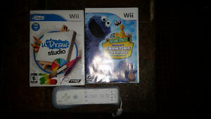 Wii Controller & 2 Games