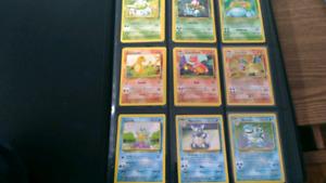 Cartes Pokémon card lot avec classeur rare holo 1st 2e édition