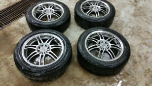 Studded winter tires with rims
