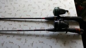 Fishing rods and life jackets.