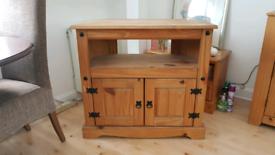 Corona Rustic Pine TV corner unit stand cupboard