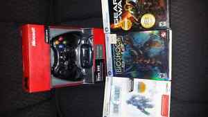 Xbox 360 pc controler and 3 games