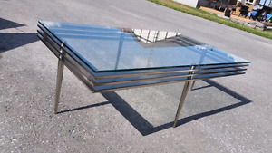 Modern Stainless Glass Coffee Table!!