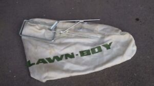 Side bag grass catcher for lawnmover