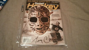 NHL Hockey Programs signed Andreychuck or Cheevers + Bobblehead