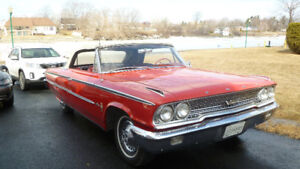 Galaxie 500 XL 1963 convertible rouge