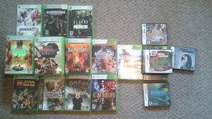 Assorted Xbox360 & Nintendo DS Games