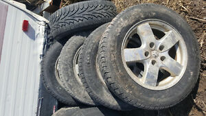 Dodge rims and tires .