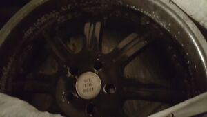 Set of 4 - 22 inch Black BMW Rims.