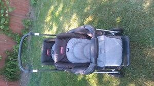 double stroller with rein cover for sale