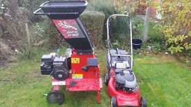 Rover petrol E/S mower and chipper