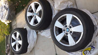 3 BMW OEM rims with all season tires