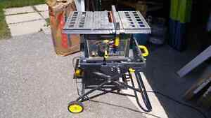10-inch table saw with universal stand