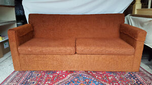 Vintage 1970s Sofa Pull-out Bed - Orange/Rust Colour