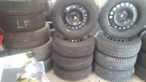 Winter Wheels And Tires - 5X110 Bolt Pattern - 215X55X16 Tires