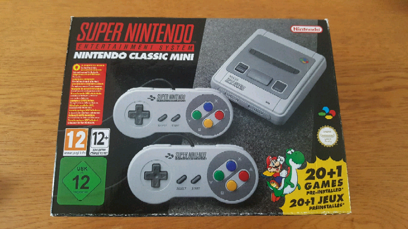 Super Nintendo's genuine official snes classic mini console 21 built i | in  Chesterfield, Derbyshire | Gumtree