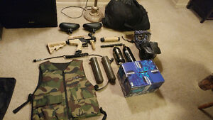 Brand new paintball gun and accessories!