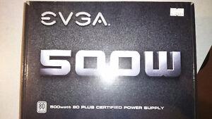 Brand new EVGA 500W 80 plus certified power supply