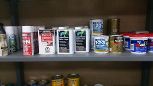 Paint, Caulking, Spray paint, Varnish, Cleaners and more.