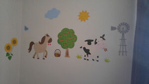 Farm Crib Bedding And Wall Decals Belleville Belleville Area image 3