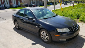 Saab 9 3 2005 black 2.0 turbo. Fully equipped Leather.