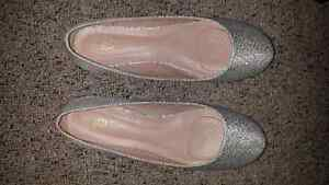 Silver Sparkle Shoes Size 8.5