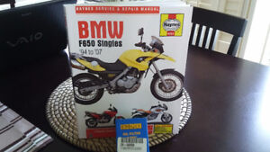 F650GS Haynes Service Manual and Oil filter for same bike
