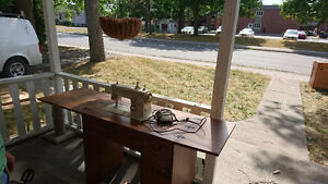 Beautiful sewing machine table.