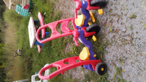 Fisher Price trike with adult push.