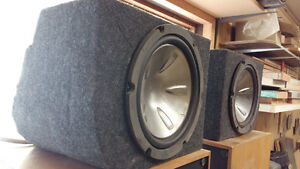 "10"" Pioneer Subwoofers w/boxes"