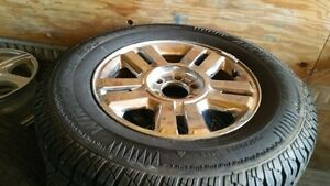 Winter studded on chrome 18 inch ford f150
