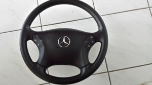 2004 Mercedes Benz C230K Steering Wheel + Air Bag & Controls