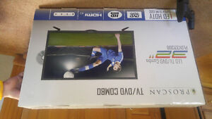 32 inch brand new never opened tv/dvd combo